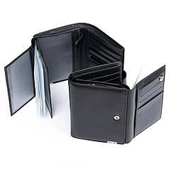Кошелек портмоне для прав паспорта и автодокументов мужской кожаный черный Bretton M5406