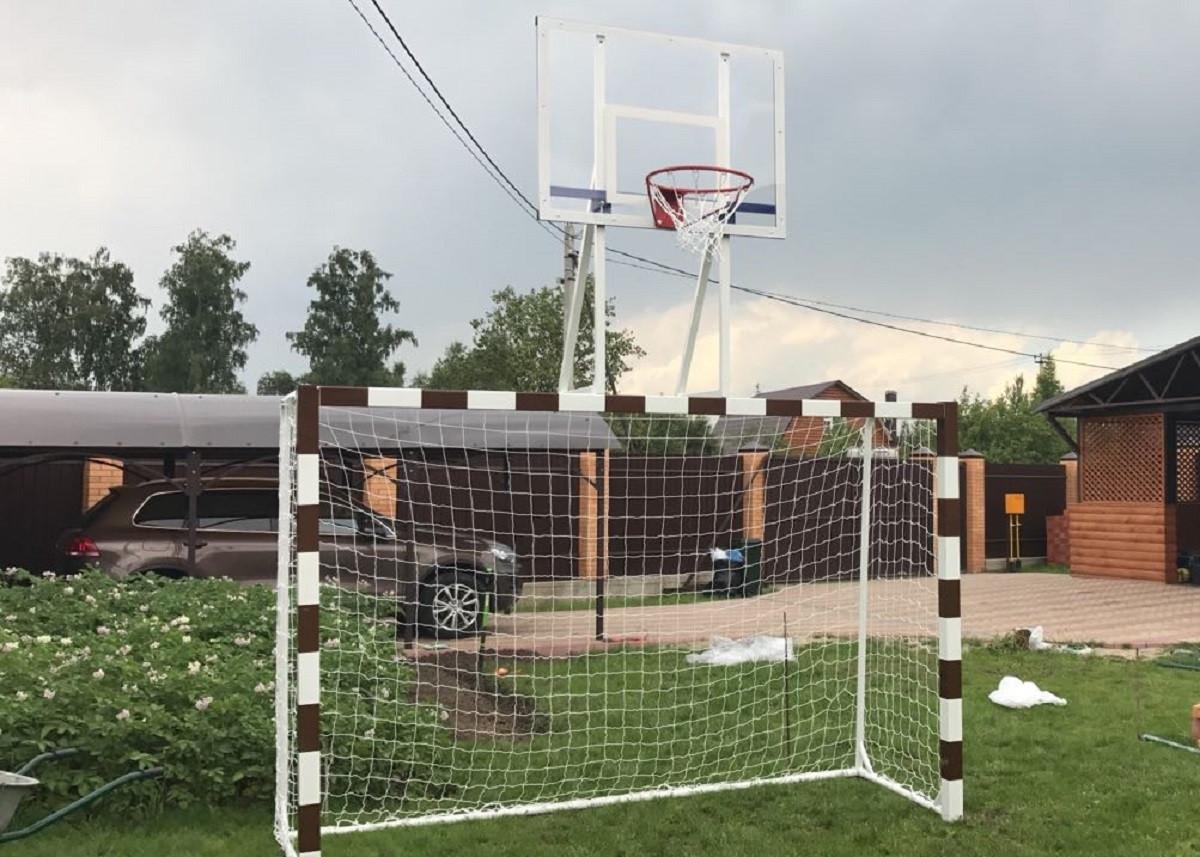 Ворота для мини футбола и гандбола с баскетбольным щитом SS00410