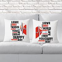 Парні декоративні подушки з принтами