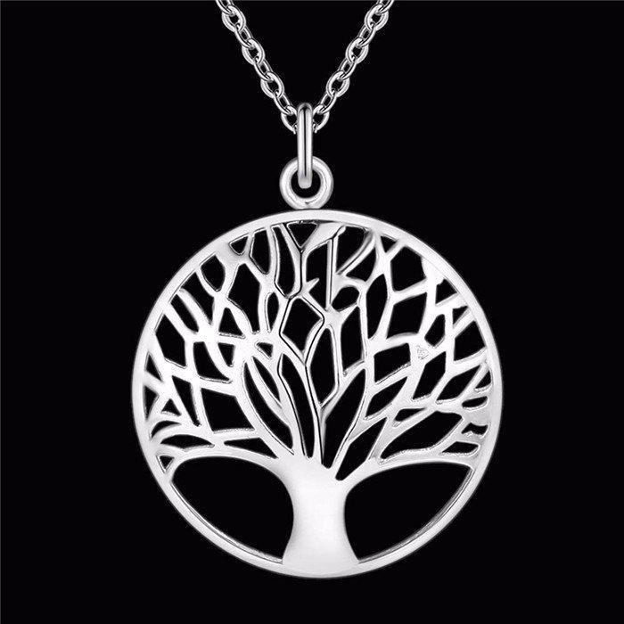 Посріблений красивий кулон - підвіска дерево в сріблі