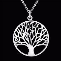 Посріблений красивий кулон - підвіска дерево в сріблі, фото 1