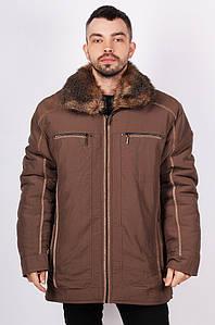 Курточка мужская зима батал темно-бежевая 124970P
