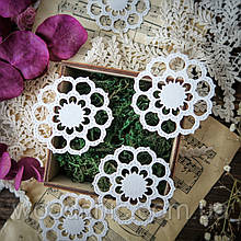 Вырубка салфетка цветок