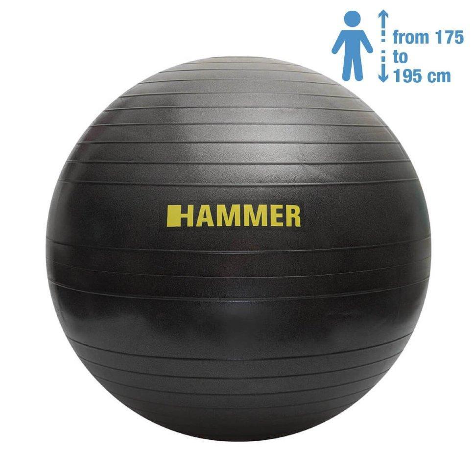 Фитбол (мяч для фитнеса) Hammer Gymnastics Ball 75 cm Anti-Burst System (антиразрыв) 66408
