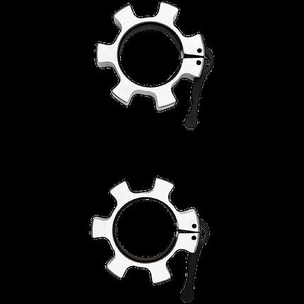Замки для грифа быстросъемные Hammer Olympic Lock Jaw Collars 4703, фото 2