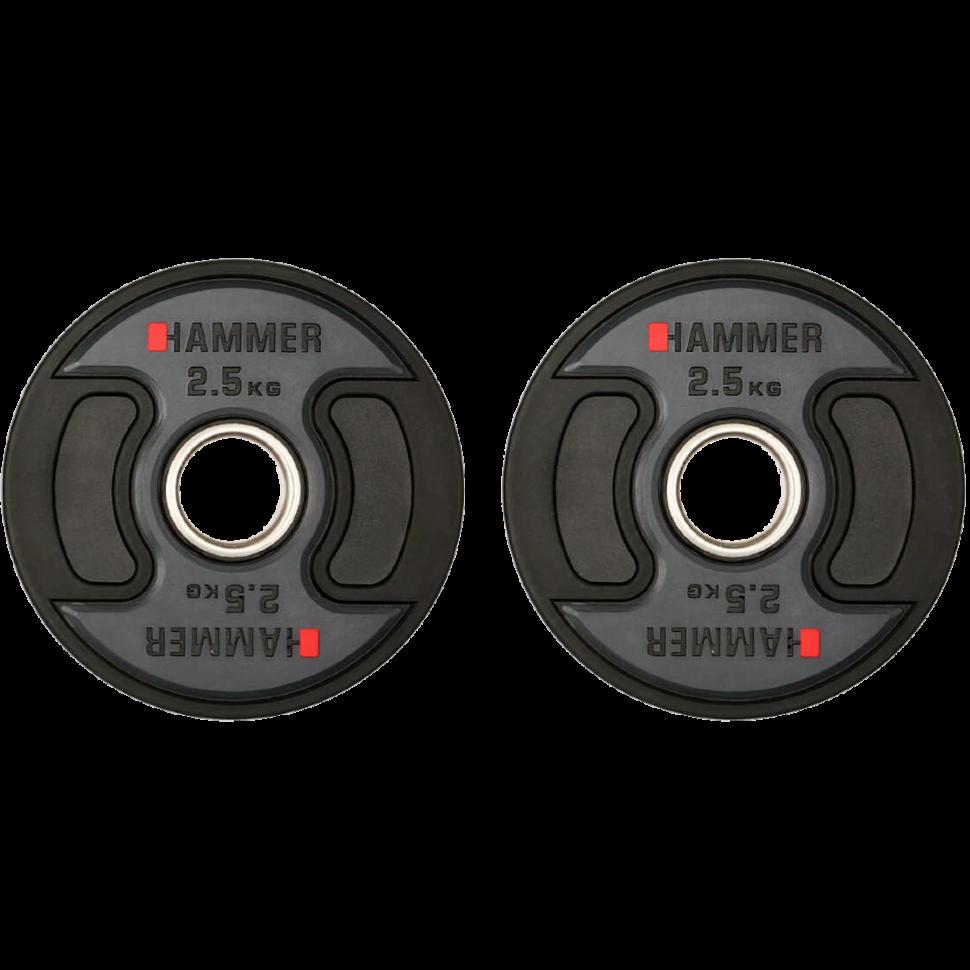 Олимпийские диски профессиональные Hammer PU Weight Discs 2*2,5 kg 4706