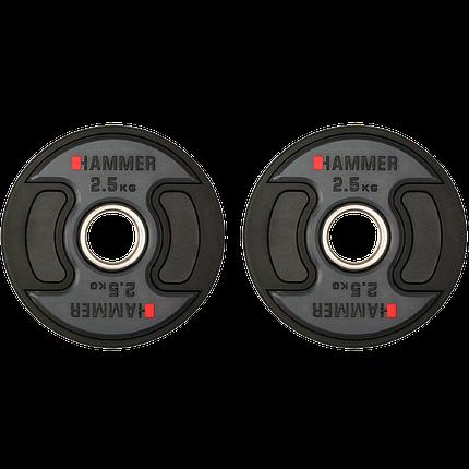 Олимпийские диски профессиональные Hammer PU Weight Discs 2*2,5 kg 4706, фото 2