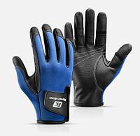 Перчатки спортивные (ЗП-107) Синий, M