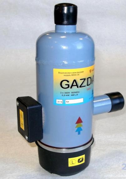 Котел электрический GAZDA-turbo ВЕН-3-6 Extra, электродный трьохфазный водонагреватель 4,5/6 кВт