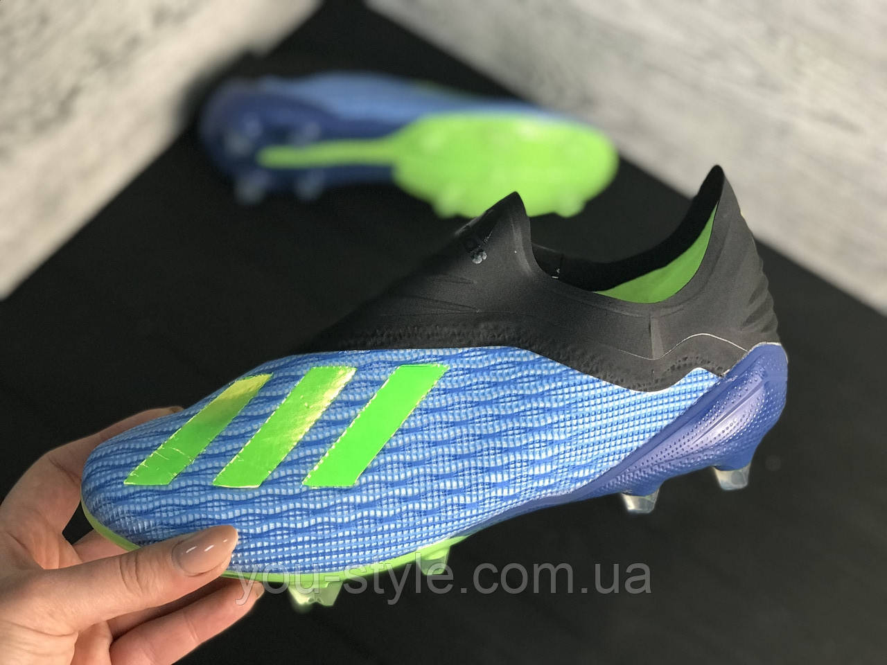 Бутсы Adidas X 18.1 / копы адидас/без шнурков