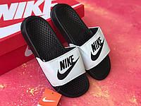 Сланцы/шлепки Nike женские(черно-белые)/ шлепки/ тапки найк/шлепанцы/тапочки, фото 1