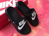 Сланцы/шлепки Nike женские(черно-белый значок)/ шлепки/ тапки найк/шлепанцы/тапочки, фото 1
