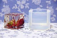 Молд кабошон кубик, 21ммх21 мм.Платиновый высокопрозрачный силикон США