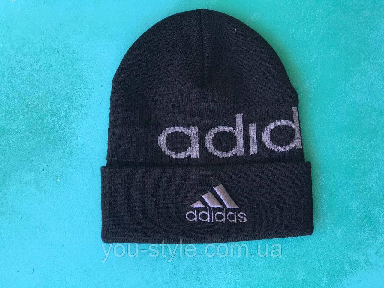 Шапка Adidas/ шапка адидас/ шапка женская/шапка мужская/ черный