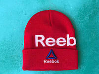 Шапка reebok / шапка рибок/ шапка женская/шапка мужская/красный, фото 1