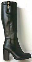 Сапоги кожаные высокие, фото 1
