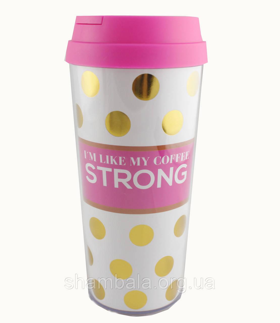 Термостакан для напитков My coffee STRONG (084848)