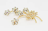 "Брошь Fashion Jewerly ""Branch of flowers"" позолота (081533)"