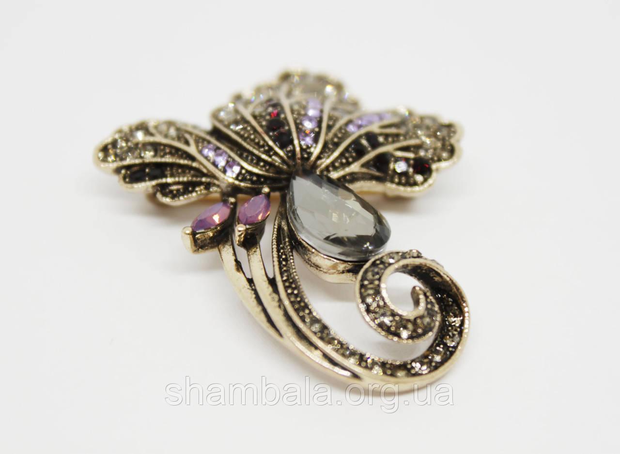 """Брошь Fashion Jewerly """"Forest flower"""" (081472)"""