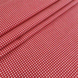 """Польская хлопковая ткань """"Клетка мелкая красная"""", фото 2"""