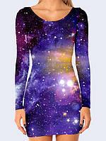 Сукня футляр 3D Космос