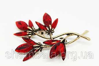 """Брошка Fashion Jewerly """"Red flowers"""" (081526)"""