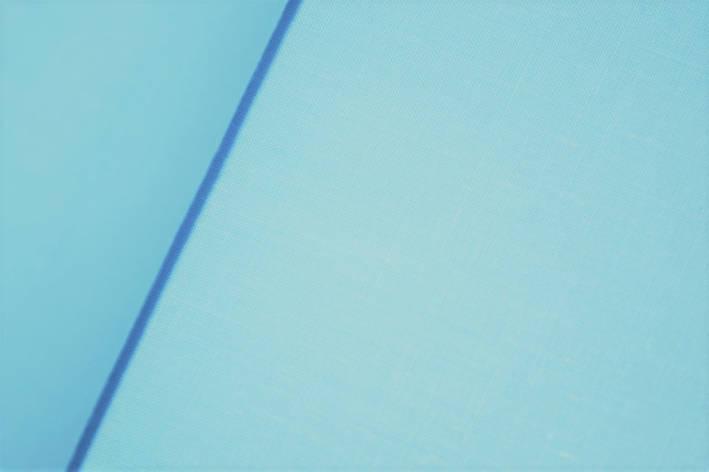 Польская хлопковая ткань светло голубая 160 см, фото 2