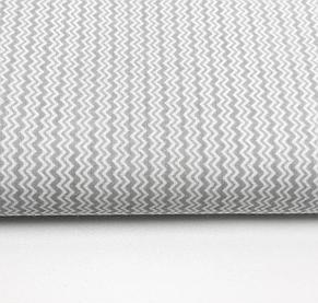"""Польская хлопковая ткань """"зигзаг мелкий серый на белом"""", фото 2"""