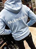 Батник худи свитшот BALENCIAGA кофта с капюшоном кенгурушка мужской брендовый копия реплика