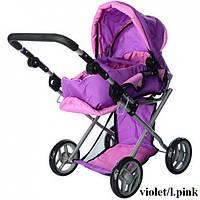 Коляска для кукол Melogo 9379/029 (violet/l.pink)