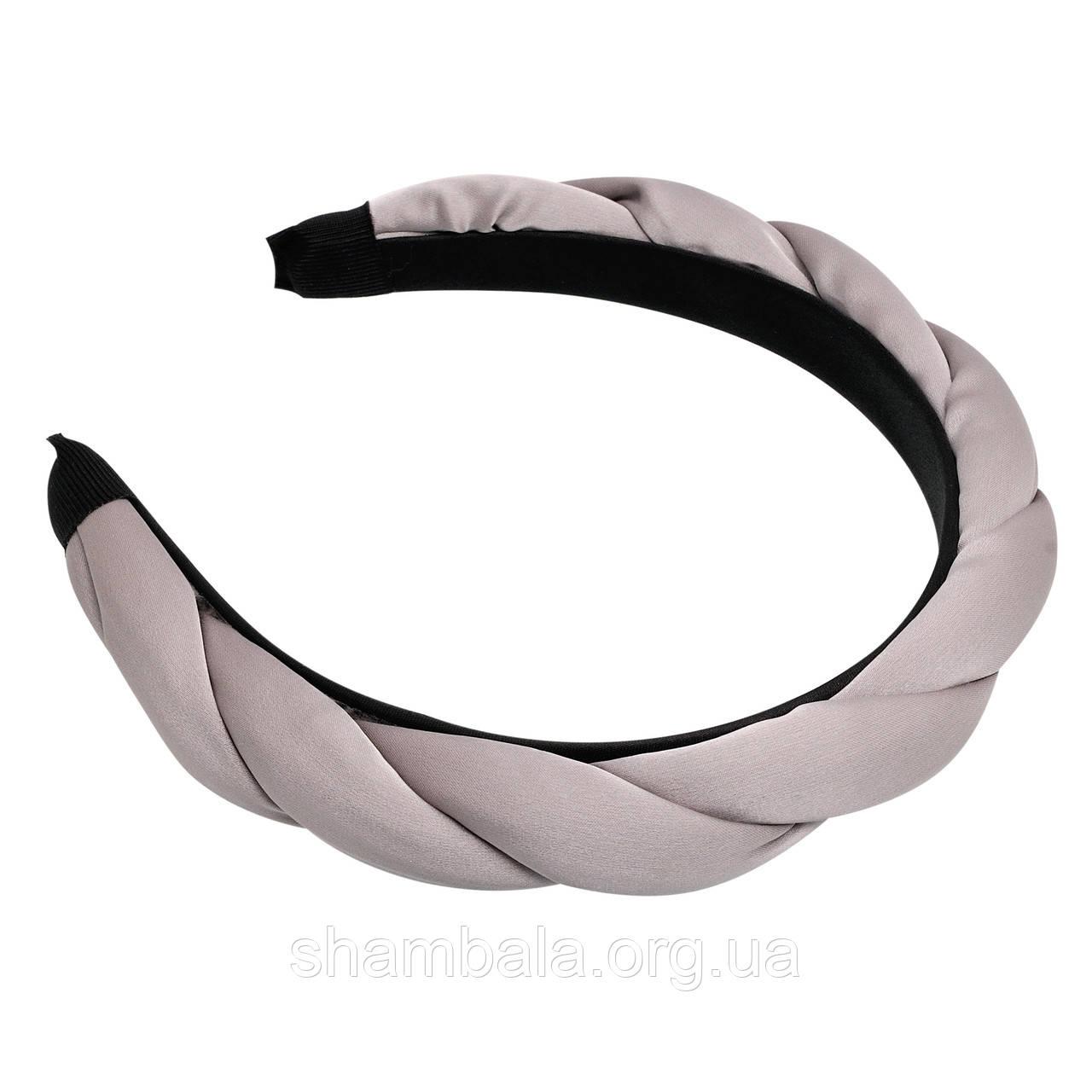 """Обруч для волос """"Braid hoop gray"""" (077468)"""