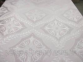 Тканина церковна Холкидок біла з былим шовком Ткань церковная