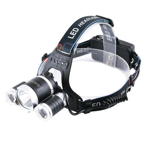 Фонарь налобный Police 6633/3000-T6+2XPE, ЗУ 220V/12V, 2x18650, signal light, Box