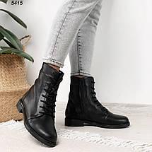 Кожаные ботинки женские черные на зиму, фото 3