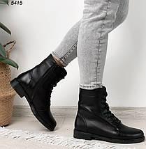Кожаные ботинки женские черные на зиму, фото 2