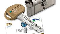 Цилиндр Mottura Champions C39 92 (46x46T) 5KEY+1KEY ключ-тумблер матовый никель 57811, фото 1