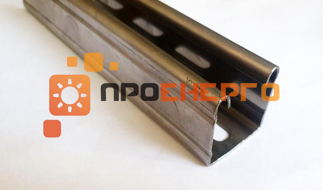 Рейка для крепления солнечных панелей на кровлю 41х41 мм нержавейка