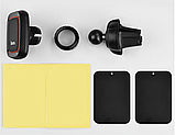 Автомобильный держатель для телефона магнитный HOCO CA23 Lotto Черный, фото 4