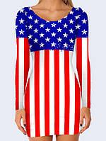 Сукня футляр 3D Американський прапор