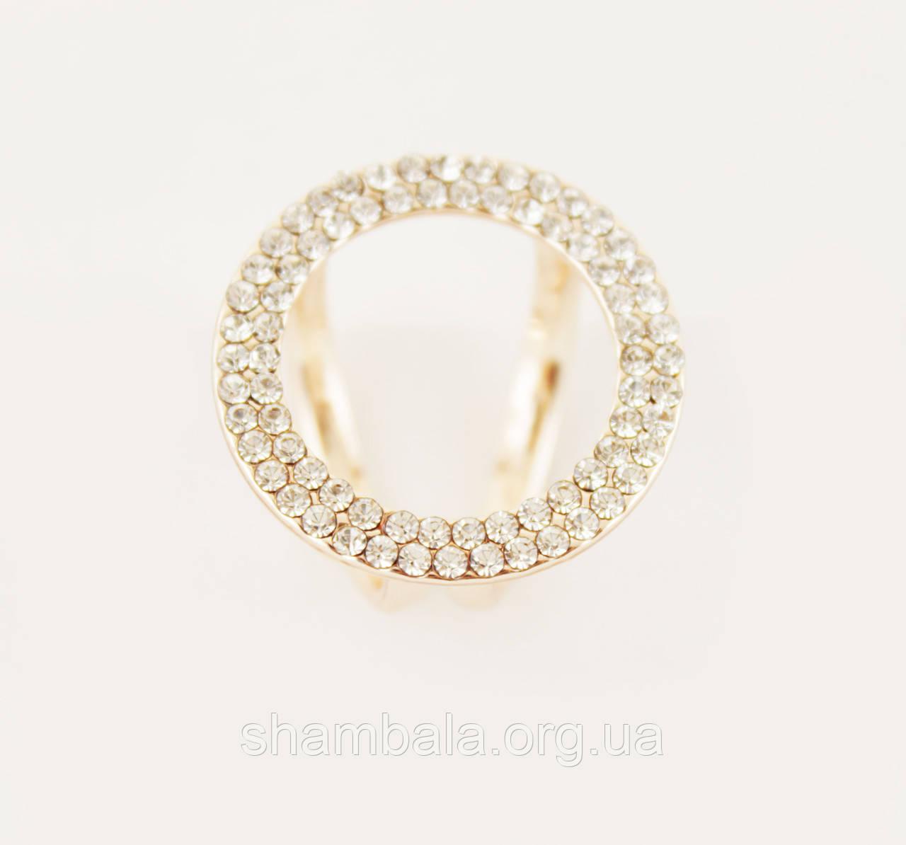"""Брошь Zaya """"Ring in stones"""" (083049)"""