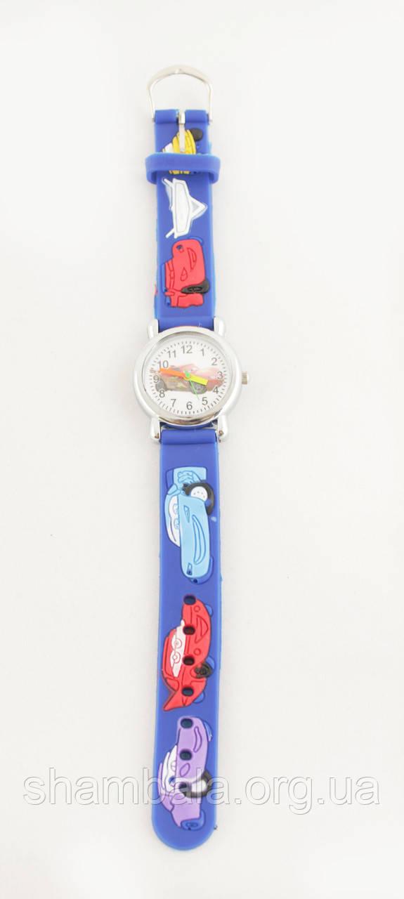 Детские наручные часы Тачки, Маквин, Молния, синие (028880)