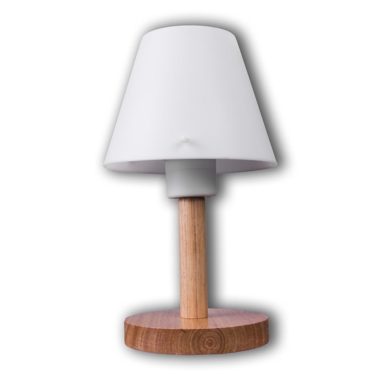 Настольная лампа на один патрон с абажуром P3-10043/1T/WD+WT