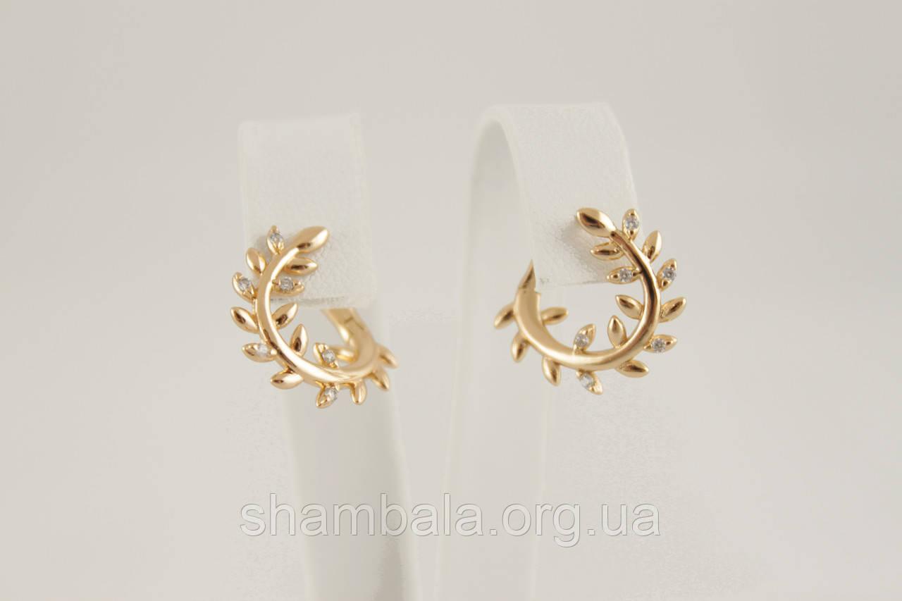Серьги Xuping Jewelry куб. цирконий позолота (086798)