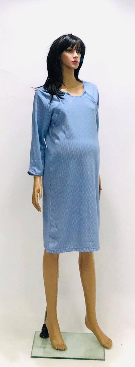 Ночная рубашка теплая для беременных и кормящих мам