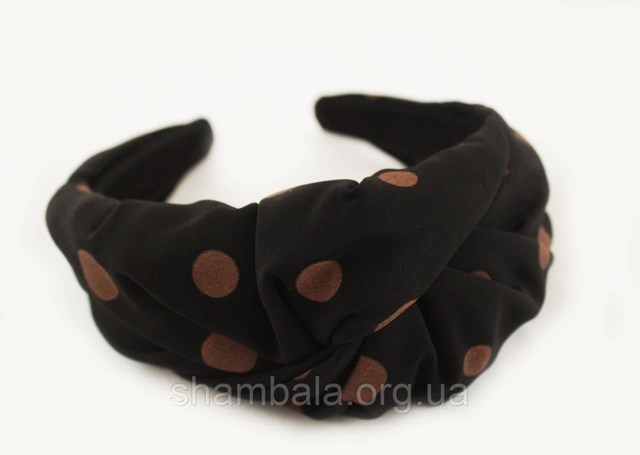 """Обруч-чалма для волос """"Brown turban"""" (082509)"""