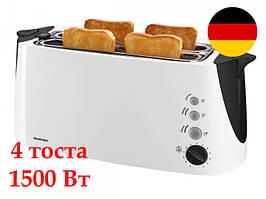 Немецкий тостер на 4 тоста SIlver Crest SDLT 1500 A2 white