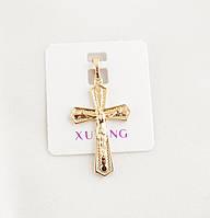 Кулон для подвески Xuping Jewelry крестик позолота (082189)