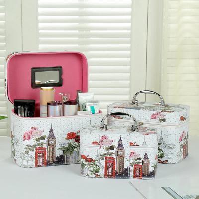 Кейс для косметики набор 3 шт. органайзер сумка косметичка