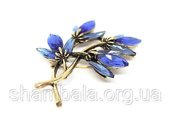 "Брошка Fashion Jewerly ""Blue flowers"" (081526)"
