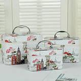 Кейс для косметики набор 3 шт. органайзер сумка косметичка, фото 2